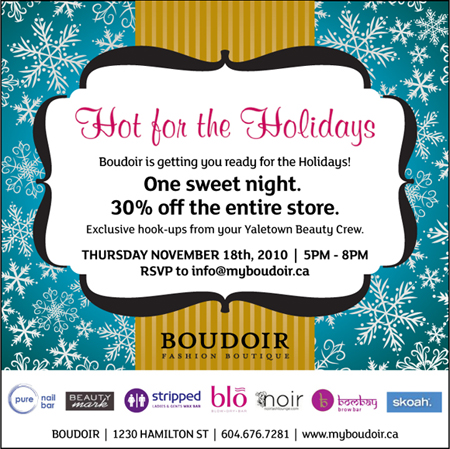 Hot for the Holidays at Boudoir